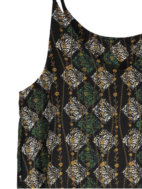 Slip Argyle Print Slit Holiday Dress - BLACK ONE SIZE(FIT SIZE XS TO M) Mobile