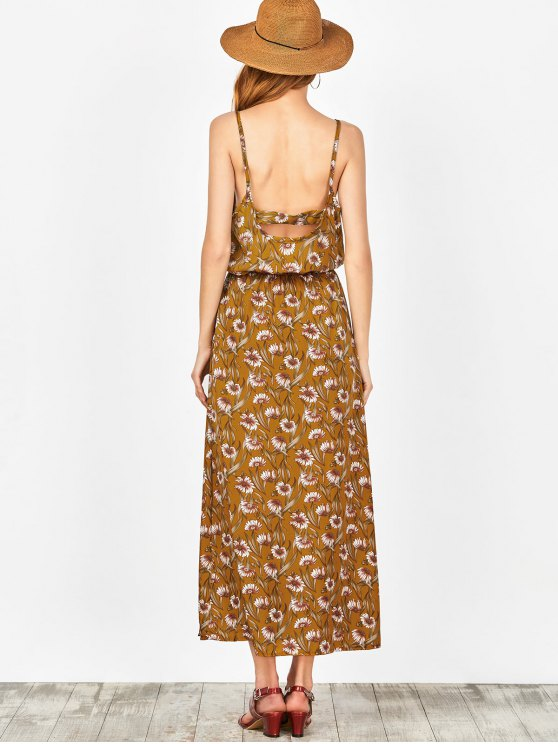 Beach Floral Maxi Dress - GINGER M Mobile