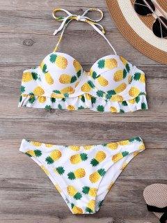 Bikini Imprimé Ananas Avec Armature - Blanc S
