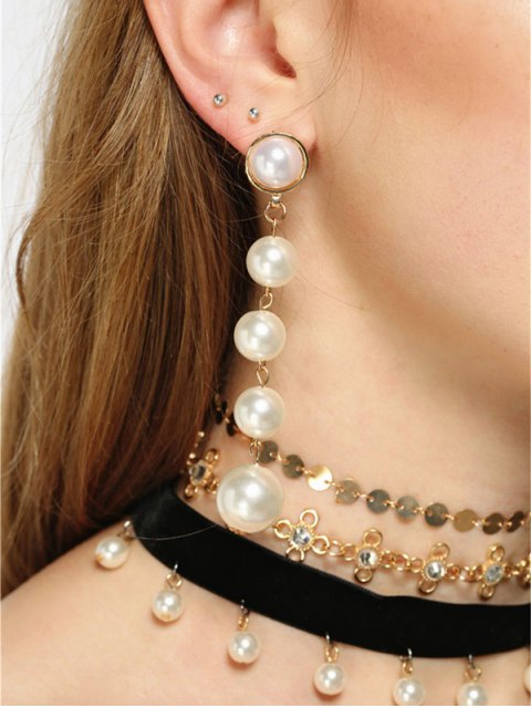 hot Rhinestone Faux Pearl Sequins Jewelry Set - MULTICOLOR  Mobile