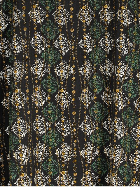 ladies Slip Argyle Print Slit Holiday Dress - BLACK ONE SIZE(FIT SIZE XS TO M) Mobile
