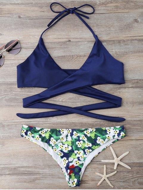 Bikini enveloppé imprimé à fleur - Multicolore L Mobile
