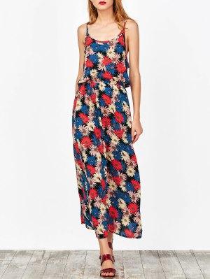 Cut Out Floral Beach Dress - Floral