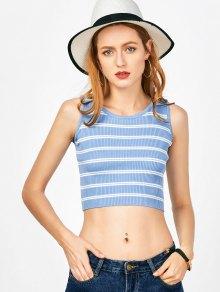 Stripes Knitting Crop Top