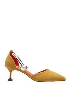 Faux Pearl Strange Style Pointed Toe Pumps
