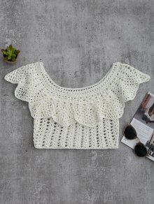 Crochet Cover Up Crop Top