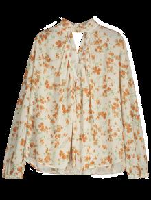 Floral Chiffon Oversized Blouse