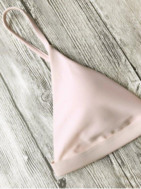 new Soft Pad Spaghetti Straps Thong Bikini Set - PINK M Mobile