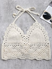 Crochet Back Tie Bralette Swim Top