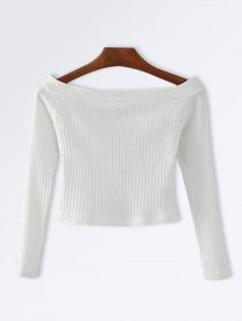 Knitted Ribbed Off The Shoulder Top