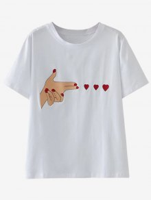 Cute Patched T-Shirt