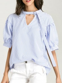 Oversized Choker Cut Out Blouse