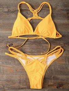 Strappy Cut Out Bikini Set