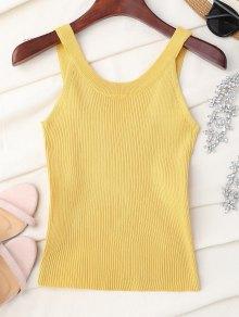 Cuello Alto De Punto Sin Mangas - Amarillo