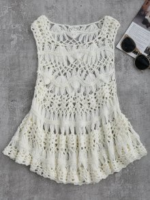 Cut Out Crochet Cover Up