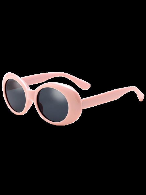 latest Oval Retro Anti UV Windbreak Sunglasses - PINK