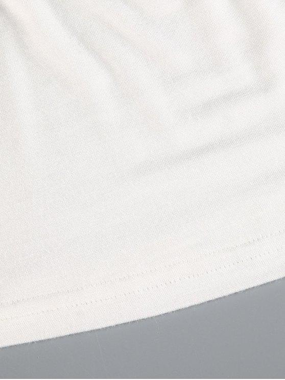 Plunge Neck Dolman Sleeve Shirred Blouse - WHITE S Mobile