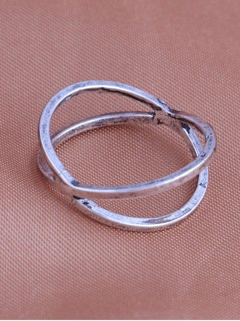 affordable Teardrop Leaf Flower Gypsy Ring Set - SILVER  Mobile