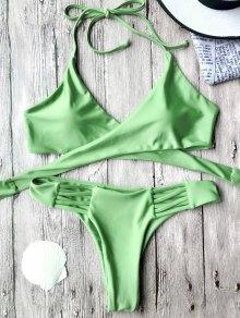 Wrap Bikini Top and Thong Bottoms