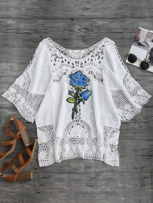 Crochet Flower Beach Cover-Up Top