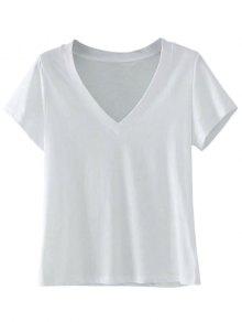 Cotton V Neck T-Shirt
