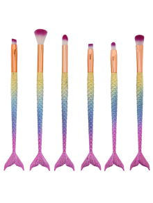 MAANGE 6 Pcs Mermaid Iridescence Eye Makeup Brushes Set
