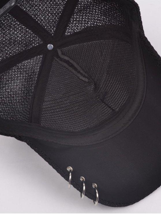 Metallic Pentagram Circles Baseball Hat - BLACK  Mobile