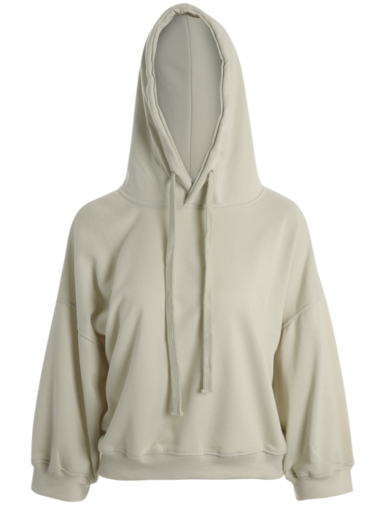 Drawstring Hoodie - APRICOT ONE SIZE Mobile