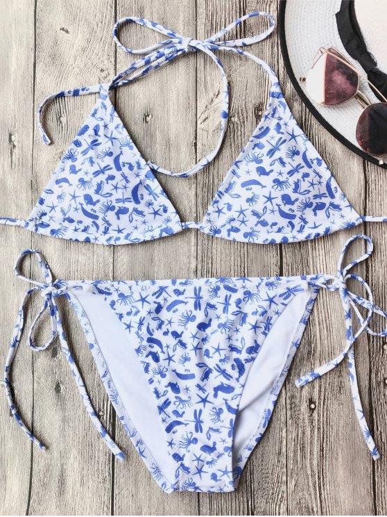 Ensemble de bikini à cordes douces - Blanc S