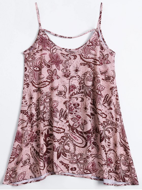 Slip Print Flowy Summer Dress - MULTICOLOR S Mobile