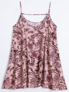 Slip Print Flowy Summer Dress - Multicolor S