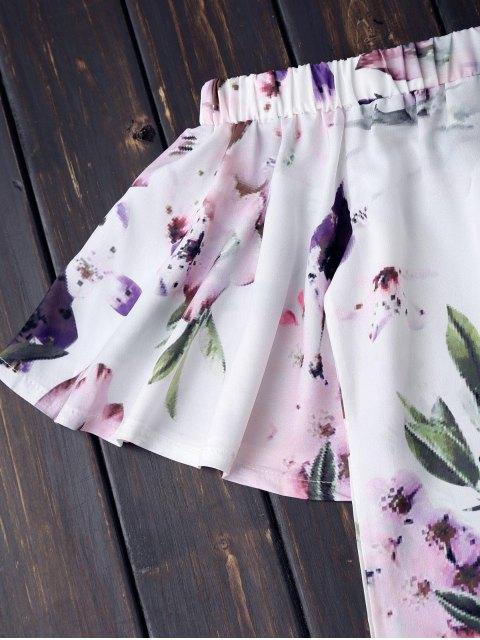 online Off The Shoulder Flower Vintage Dress - WHITE S Mobile