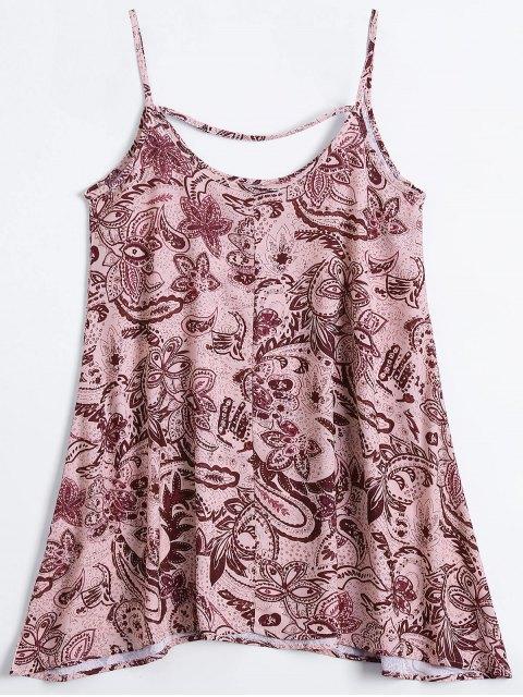 online Slip Print Flowy Summer Dress - MULTICOLOR M Mobile