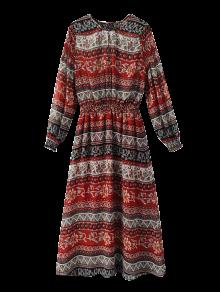 Vestido maxi tribal con estampado étnico