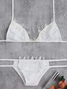 Lace Halter Crochet Bikini Set