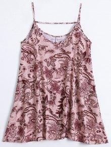 Slip Imprimir Flowy vestido de verano
