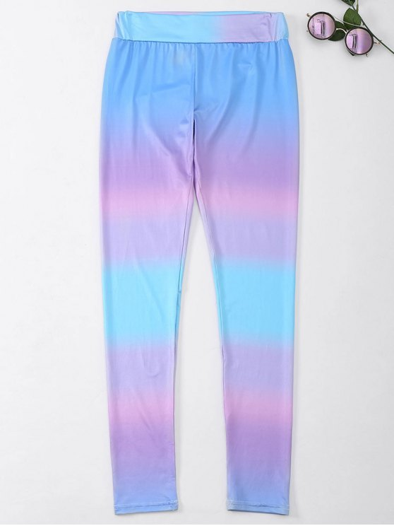 Ombre Skinny Footless Leggings - Multicolore M
