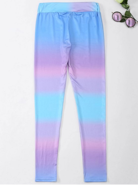 Ombre Skinny Footless Leggings - COLORMIX L Mobile