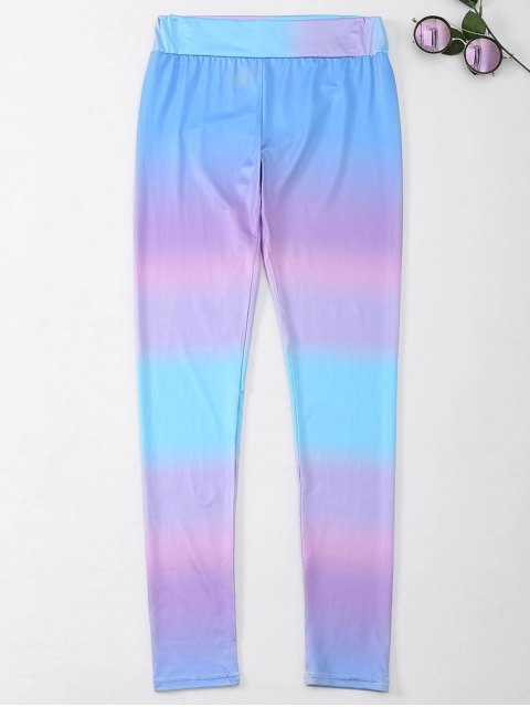 trendy Ombre Skinny Footless Leggings - COLORMIX M Mobile