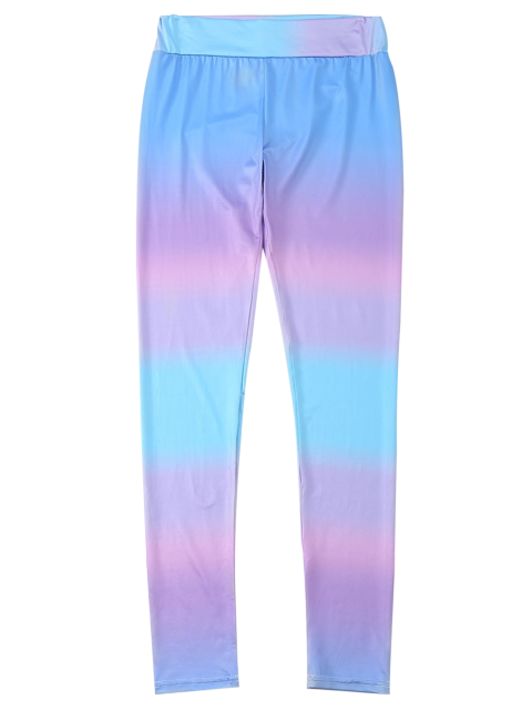 fashion Ombre Skinny Footless Leggings - COLORMIX L Mobile