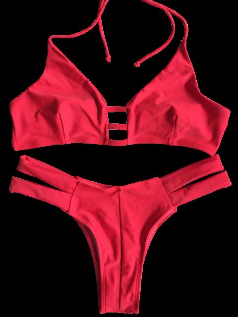shop Banded Unlined Halter Bikini - RED S Mobile