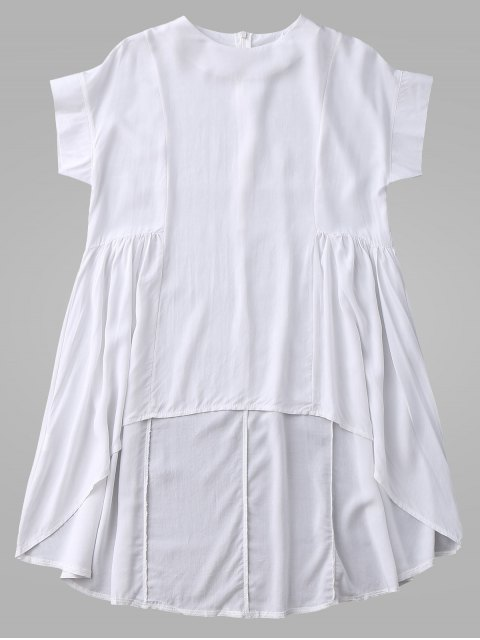 hot High Low Skirted Flowy Top - WHITE XL Mobile