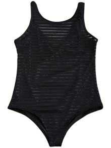maillot de bain une pi ce transparent ray noir une pi ce l zaful. Black Bedroom Furniture Sets. Home Design Ideas