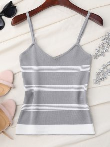 Striped Slip Knitted Tank Top