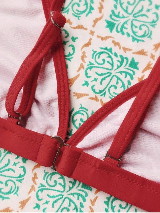 Tiny Unlined String Bikini Swimwear - RED M Mobile