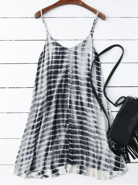 Tie-Dyed Trapeze Slip Dress - COLORMIX M Mobile