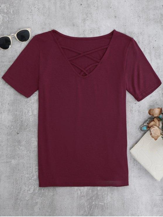 Camiseta Strappy - Burdeos M