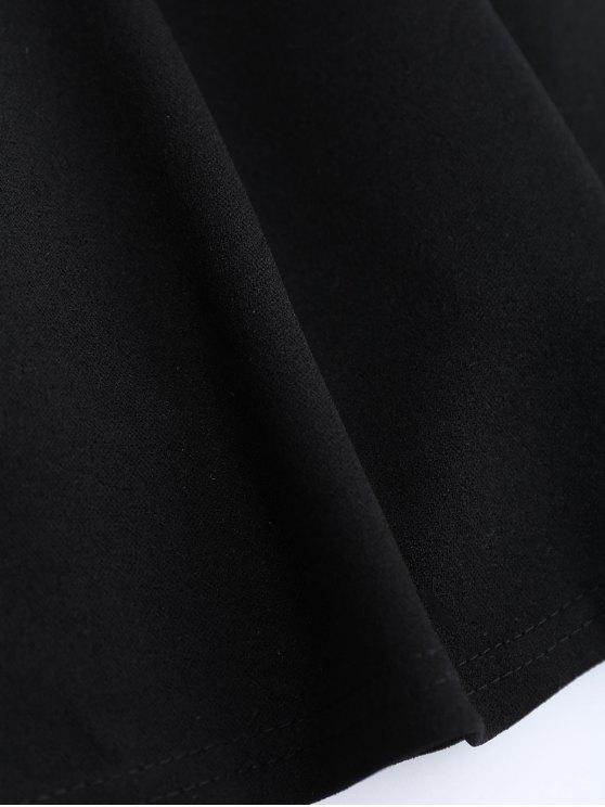 Bowknot Slip Skater Backless Dress - BLACK M Mobile