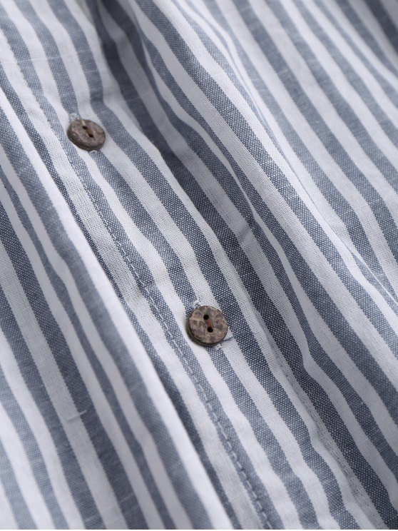Striped Front Knot Cutout Cami Dress - STRIPE S Mobile