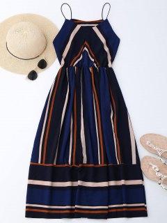 فستان  الشمس متعددة الشريط كامي ميدي  - شريط M